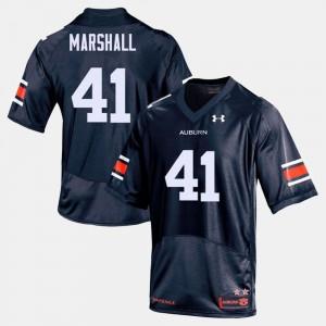 Tigers #41 Men Aidan Marshall Jersey Navy University College Football 761459-397