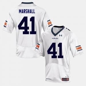 Auburn Tigers #41 For Men's Aidan Marshall Jersey White Stitch College Football 727669-458