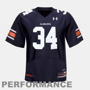 Auburn #34 For Men's Bo Jackson Jersey Blue Official College Football 651052-289