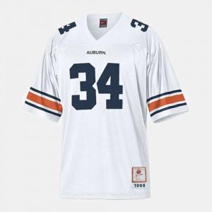 Auburn University #34 Youth(Kids) Bo Jackson Jersey White College Football Embroidery 632314-214