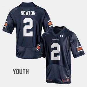 Auburn Tigers #2 Youth Cam Newton Jersey Navy High School College Football 367292-978