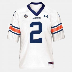 AU #2 Youth(Kids) Cam Newton Jersey White College College Football 829941-773