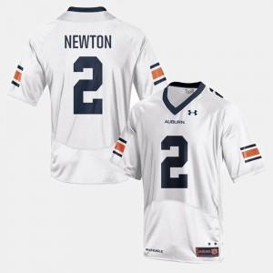 Auburn University #2 Men Cam Newton Jersey White Embroidery College Football 584213-589