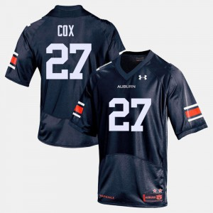 AU #27 Mens Chandler Cox Jersey Navy Official College Football 392569-278
