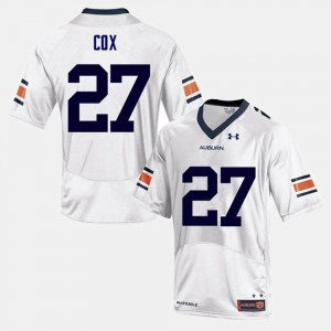 Auburn #27 Mens Chandler Cox Jersey White Embroidery College Football 547852-601