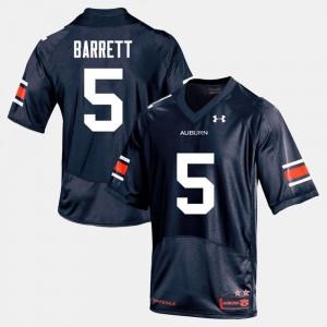 AU #5 For Men's Devan Barrett Jersey Navy College Football Stitch 338082-548