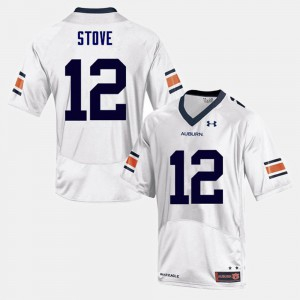 Tigers #12 Men Eli Stove Jersey White Player College Football 466372-552