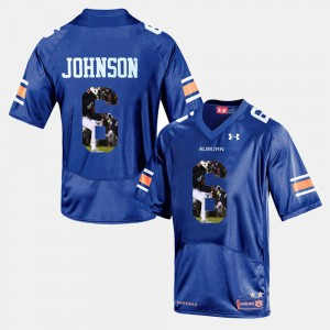 Tigers #6 Men Jeremy Johnson Jersey Navy Blue Player Pictorial Official 985861-915