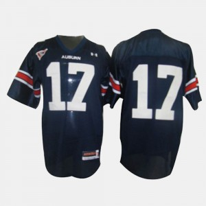 Auburn University #17 For Kids Josh Bynes Jersey Blue College Football Stitch 814892-418