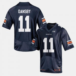 Auburn Tigers #11 For Men Karlos Dansby Jersey Navy College Football Stitch 572430-416