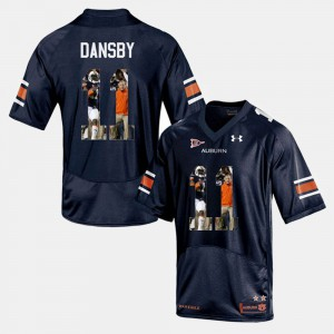 Auburn University #11 Mens Karlos Dansby Jersey Navy Blue Player Pictorial Stitched 119301-539