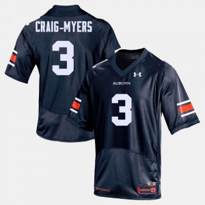 Tigers #3 For Men's Nate Craig-Myers Jersey Navy College College Football 208192-915