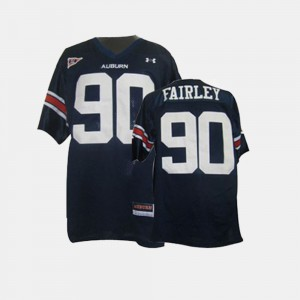 AU #90 For Men's Nick Fairley Jersey Blue University College Football 423502-937