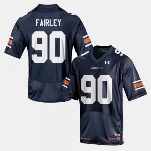 AU #90 Men's Nick Fairley Jersey Navy College College Football 785340-929