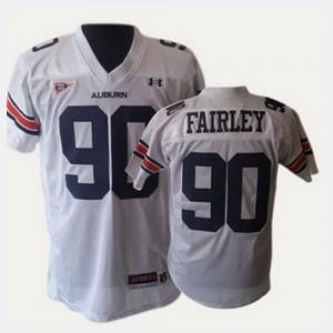AU #90 Men's Nick Fairley Jersey White College College Football 595354-655