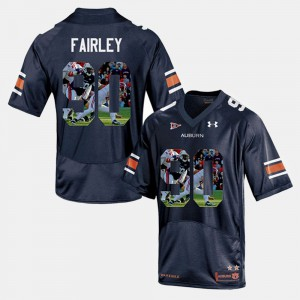 Auburn Tigers #90 Men Nick Fairley Jersey Navy Blue Player Pictorial Embroidery 412079-387