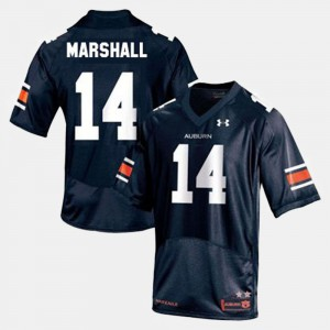 Tigers #14 For Men Nick Marshall Jersey Blue Stitch College Football 760571-987