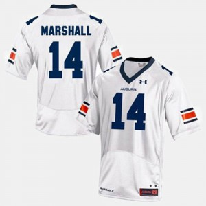 AU #14 For Men's Nick Marshall Jersey White College Football University 156062-738
