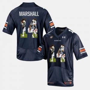 Auburn University #14 Men Nick Marshall Jersey Navy Blue Stitched Player Pictorial 633113-594