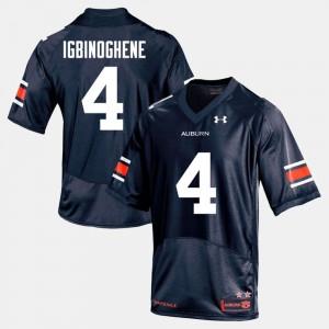 AU #19 Men's Noah Igbinoghene Jersey Navy College Football Player 957551-869