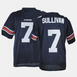 AU #7 Men's Pat Sullivan Jersey Blue College Football Alumni 582715-455