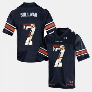 Auburn #7 For Men Pat Sullivan Jersey Navy Blue University Throwback 434932-432