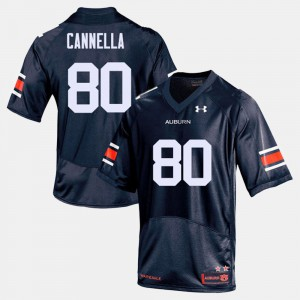 AU #80 For Men's Sal Cannella Jersey Navy Player College Football 751267-258
