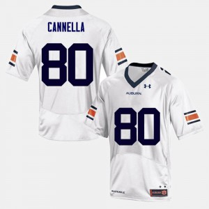 Tigers #80 For Men's Sal Cannella Jersey White Alumni College Football 354448-932