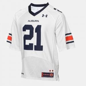 Auburn University #21 Youth(Kids) Tre Mason Jersey White College Football College 597448-685