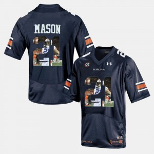 AU #21 Mens Tre Mason Jersey Navy Blue Official Player Pictorial 116991-387