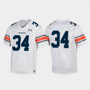 Tigers #34 For Men Jersey White Stitched Replica Football 576985-181