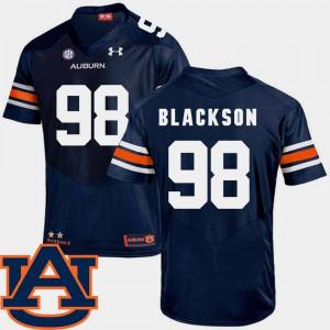 Auburn Tigers #98 Men Angelo Blackson Jersey Navy SEC Patch Replica College Football College 740700-458