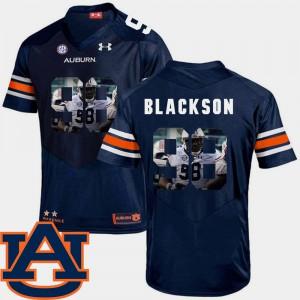Tigers #98 Mens Angelo Blackson Jersey Navy High School Football Pictorial Fashion 523176-680