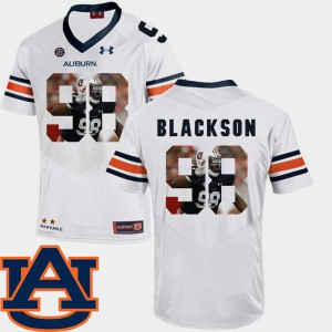 AU #98 Men's Angelo Blackson Jersey White Football Pictorial Fashion Stitch 815720-121