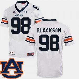 AU #98 Mens Angelo Blackson Jersey White College SEC Patch Replica College Football 207493-757