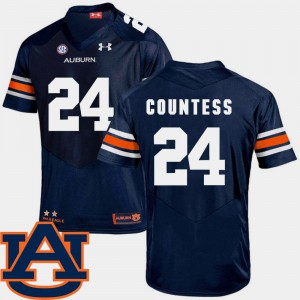 Auburn University #24 For Men's Blake Countess Jersey Navy Official College Football SEC Patch Replica 492338-693