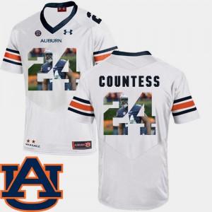 Auburn #24 Men's Blake Countess Jersey White High School Football Pictorial Fashion 214415-631