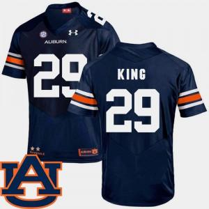Auburn #29 Mens Brandon King Jersey Navy SEC Patch Replica College Football Stitched 547151-613