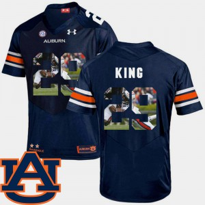 AU #29 For Men's Brandon King Jersey Navy Football Pictorial Fashion Official 455893-672