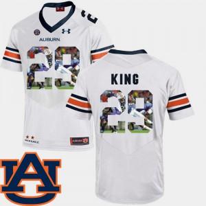 Auburn University #29 Mens Brandon King Jersey White Embroidery Pictorial Fashion Football 854191-391