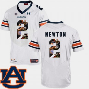 Auburn #2 For Men's Cam Newton Jersey White Embroidery Pictorial Fashion Football 267631-942