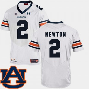 AU #2 For Men Cam Newton Jersey White SEC Patch Replica College Football Embroidery 445989-826