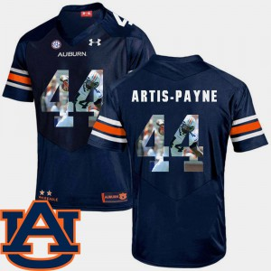 Tigers #44 Men's Cameron Artis-Payne Jersey Navy Embroidery Football Pictorial Fashion 594410-431