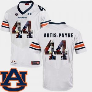 Tigers #44 Men's Cameron Artis-Payne Jersey White Football Pictorial Fashion Player 824909-481