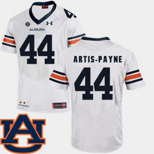 Auburn #44 Men's Cameron Artis-Payne Jersey White Stitched College Football SEC Patch Replica 434251-660