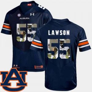 AU #55 Mens Carl Lawson Jersey Navy Football Pictorial Fashion Alumni 763931-343