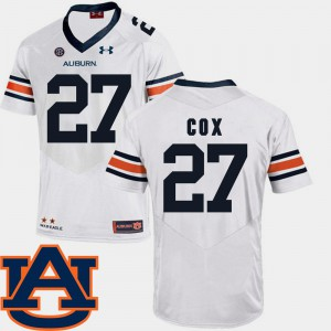 Auburn University #27 For Men Chandler Cox Jersey White Stitch SEC Patch Replica College Football 913762-717