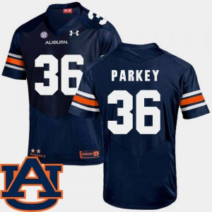 Auburn #36 Men Cody Parkey Jersey Navy University College Football SEC Patch Replica 111869-511