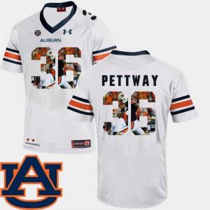 AU #36 Men Cody Parkey Jersey White NCAA Football Pictorial Fashion 407895-967