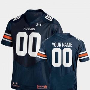 Auburn University #00 For Men's Custom Jersey Navy Player 2018 TC College Football 828154-192